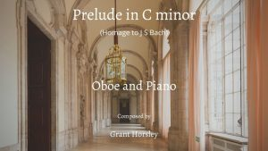 Prelude in C minor- Oboe and Piano- Homage to JS Bach