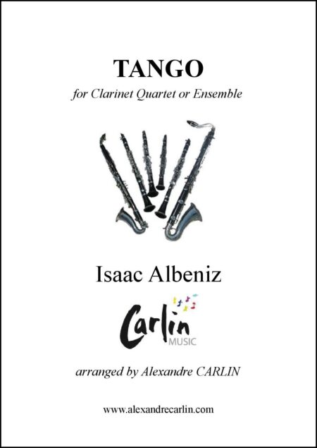 Tango clarinet Couverture with border