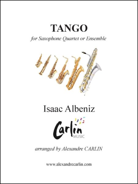 Tango saxophone Cover with border