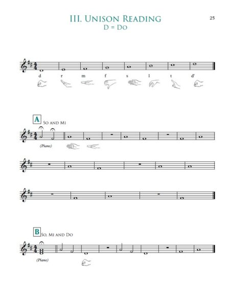 Guided sight reading example.