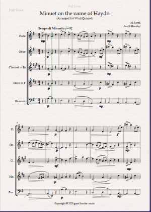 """""""Minuet on the name of Haydn"""" By Ravel. Arranged for Wind Quintet"""