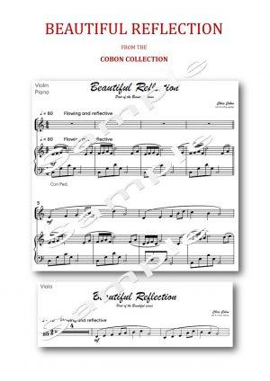 No.5 Beautiful Reflection (Violin or Viola)