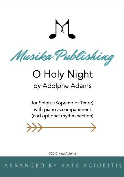 (Soprano or Tenor) with Piano Accompaniment and Optional Rhythm Section