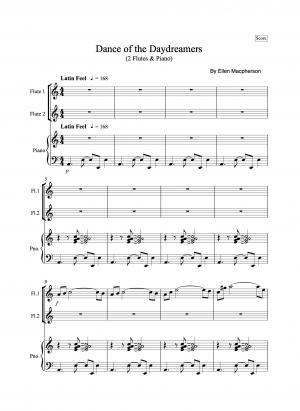 A Latin Flute Duet – Dance Of The Daydreamers by Ellen Macpherson