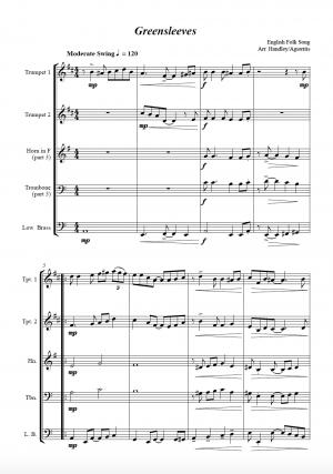 Jazz Carols Collection for Brass Quartet – Set Six
