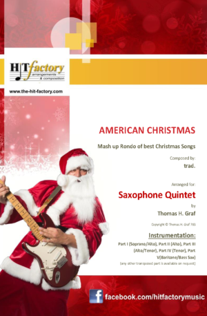 American Christmas – Mash up Rondo of best Christmas Songs – Saxophone Quintet