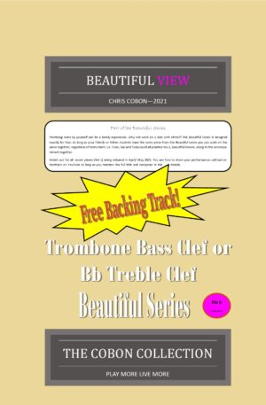 No.6 Beautiful View (Trombone Bass Clef or Bb Treble Clef)