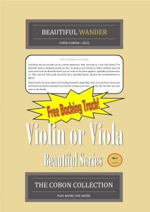 No.7 Beautiful Wander (Violin or Viola)