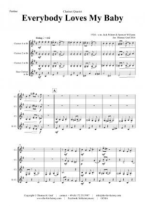 Everybody Loves My Baby – Jazz Classic – Clarinet Quartet