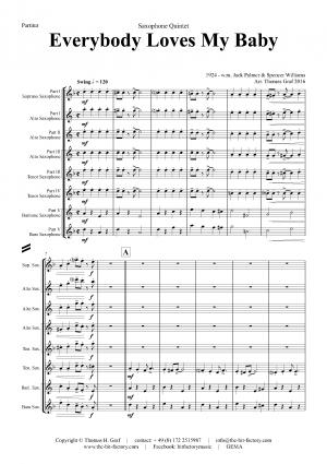 Everybody Loves My Baby – Jazz Classic – Saxophone Quintet