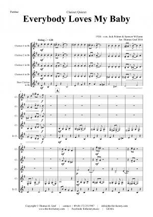 Everybody Loves My Baby – Jazz Classic – Clarinet Quintet