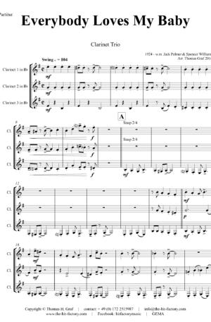Everybody Loves My Baby – Jazz Classic – Clarinet Trio
