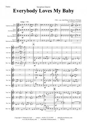 Everybody Loves My Baby – Jazz Classic – Saxophone Quartet