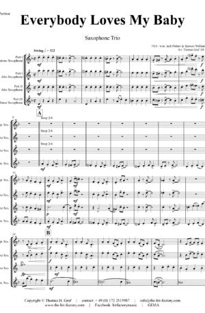 Everybody Loves My Baby – Jazz Classic – Saxophone Trio
