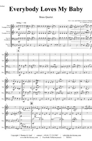 Everybody Loves My Baby – Jazz Classic – Brass Quartet
