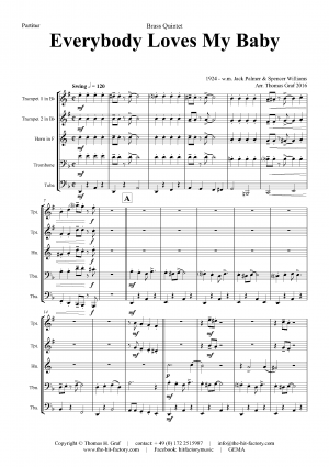 Everybody Loves My Baby – Jazz Classic – Brass Quintet
