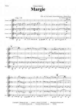 Margie – Dixieland Classic – Clarinet Quintet