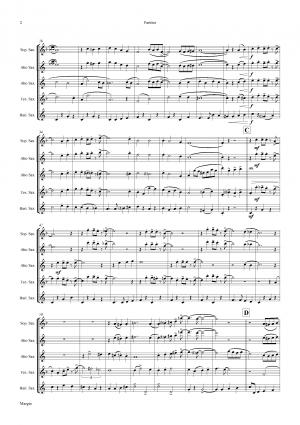 Margie – Dixieland Classic – Saxophone Quartet