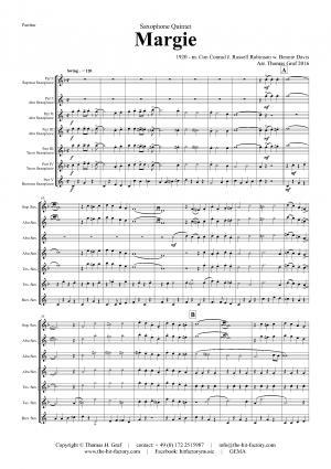 Margie – Dixieland Classic – Saxophone Quintet