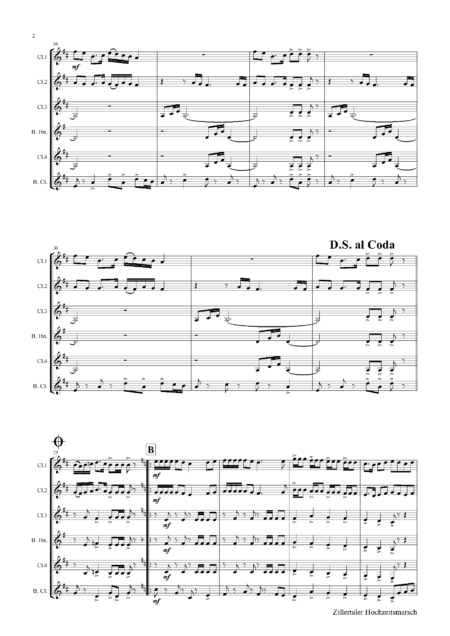 ZillertalerHochzeitsmarschClarinetQuintet Seite 02