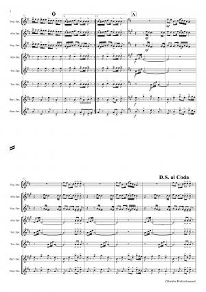 Zillertaler Hochzeitsmarsch – October Fest – Saxophone Quintet