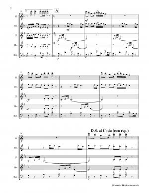 Zillertaler Hochzeitsmarsch – October Fest – Wind Quintet