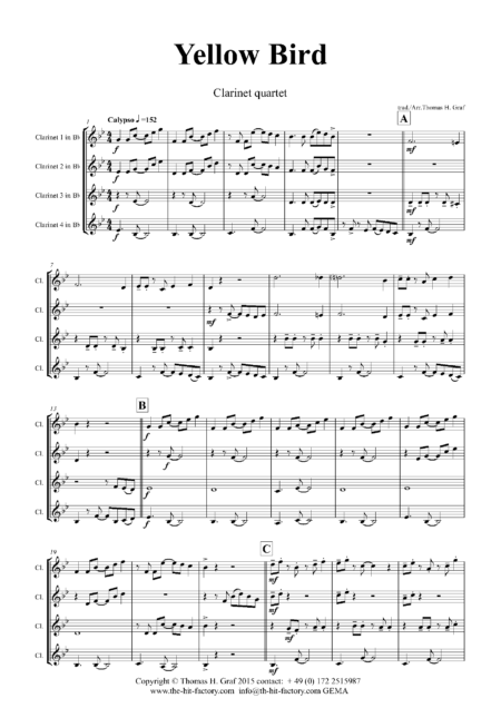 YellowBirdClarinetQuartet Seite 02