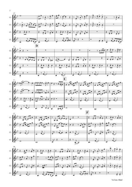 YellowBirdClarinetQuartet Seite 03
