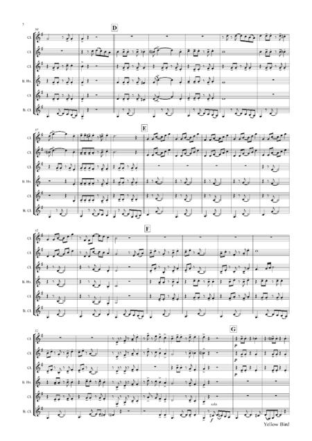 YellowBirdClarinetQuintet Seite 03