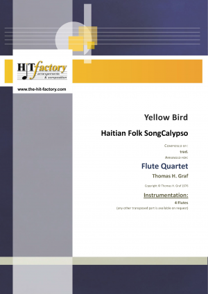 Yellow Bird – Haitian Folk Song – Calypso – Flute Quartet