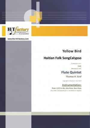 Yellow Bird – Haitian Folk Song – Calypso – Flute Quintet