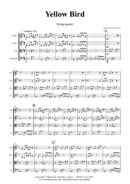 YellowBirdStringQuartet Seite 02