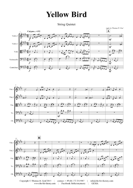 YellowBirdStringQuintet Seite 01