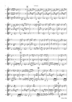 Yellow Bird – Haitian Folk Song – Calypso – Trumpet Trio