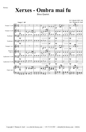 Xerxes Largo – Ombra mai fu – Brass Quartet