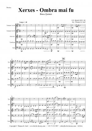 Xerxes Largo – Ombra mai fu – Brass Quintet