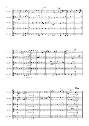 Xerxes Largo – Ombra mai fu – Saxophone Quintet