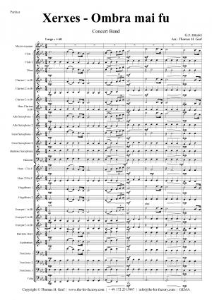 Xerxes Largo – Ombra mai fu – Concert Band