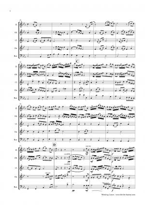 Wedding Canon – Festive Concert Piece – Wind Quintet