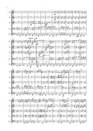 Bella Ciao – Italian Classic – Brass Quintet