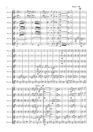 Bella Ciao – Italian Classic – Saxophone Quintet