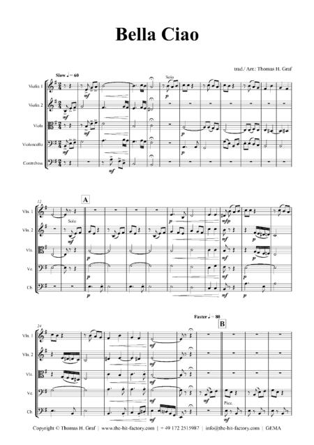 BellaCiaoStringOrchestra Seite 01