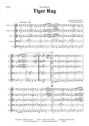Tiger Rag – Jazz Classic – Brass Quintet