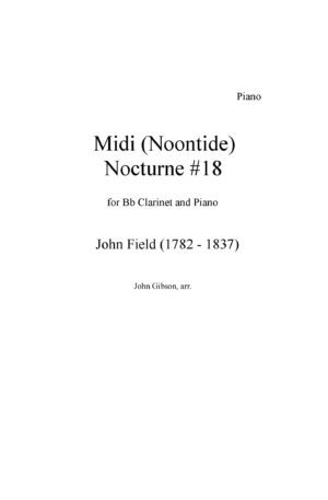 Midi (Noontide) by John Field for clarinet and piano
