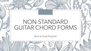 Non-standard guitar chord forms