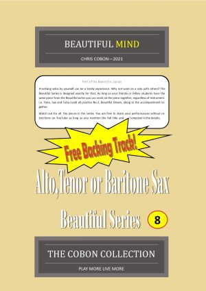 No.8 Beautiful Mind (Alto, Tenor or Baritone Saxophone)