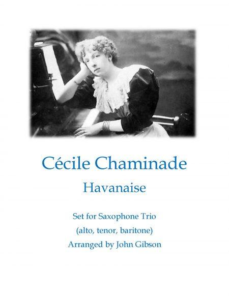 complete Chaminade Havanaise sax trio cover