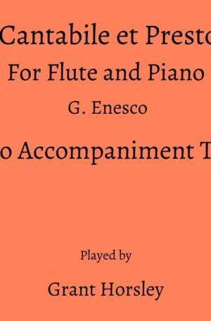 """""""Cantabile et Presto"""" Flute and Piano-G.Enesco- PIANO ACCOMPANIMENT TRACK"""