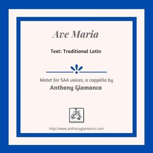 AVE MARIA – SAA, a cappella
