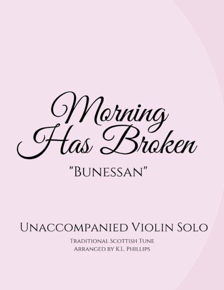 Morning Has Broken - Unaccompanied Violin Webcover